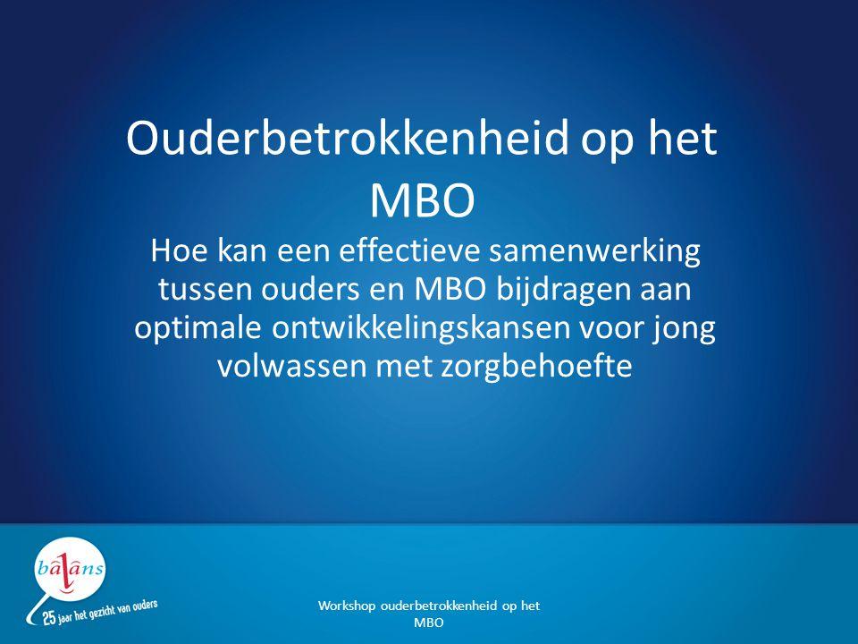 Ouderbetrokkenheid op het MBO