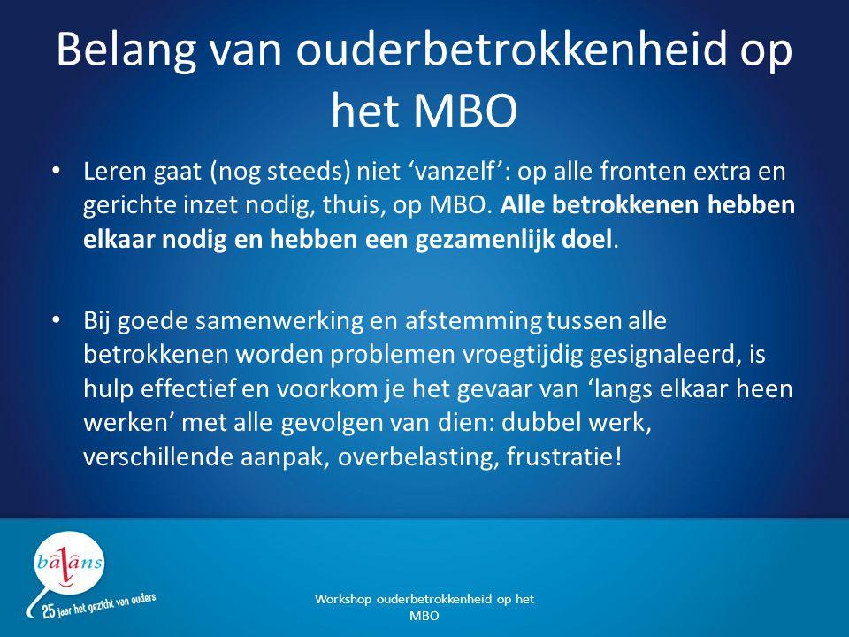 Belang van ouderbetrokkenheid op het MBO