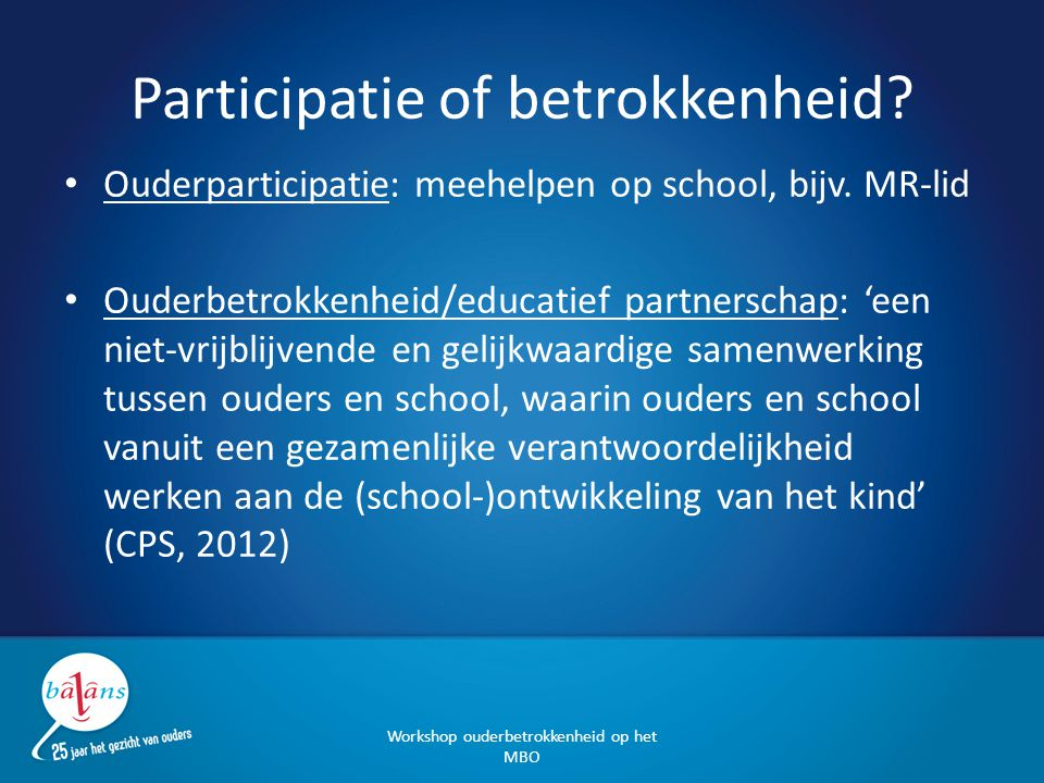 Participatie of betrokkenheid