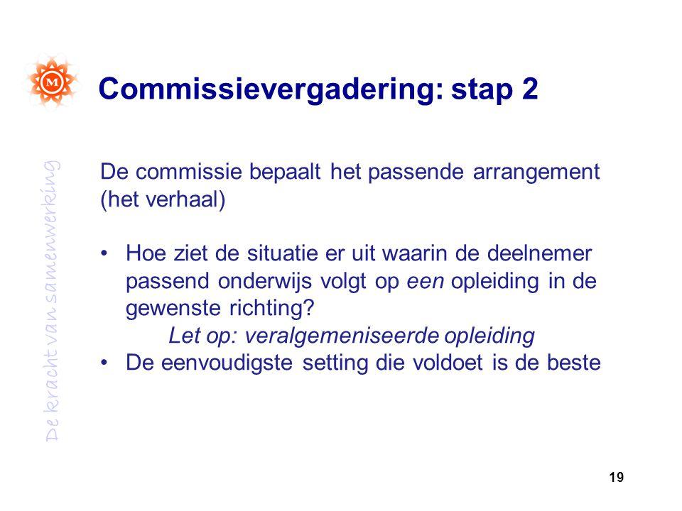 Commissievergadering: stap 2