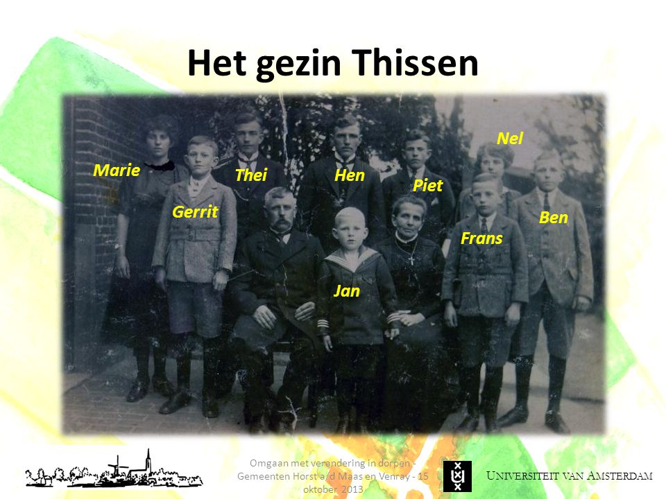Het gezin Thissen Jan Nel Ben Frans Hen Thei Marie Gerrit Piet