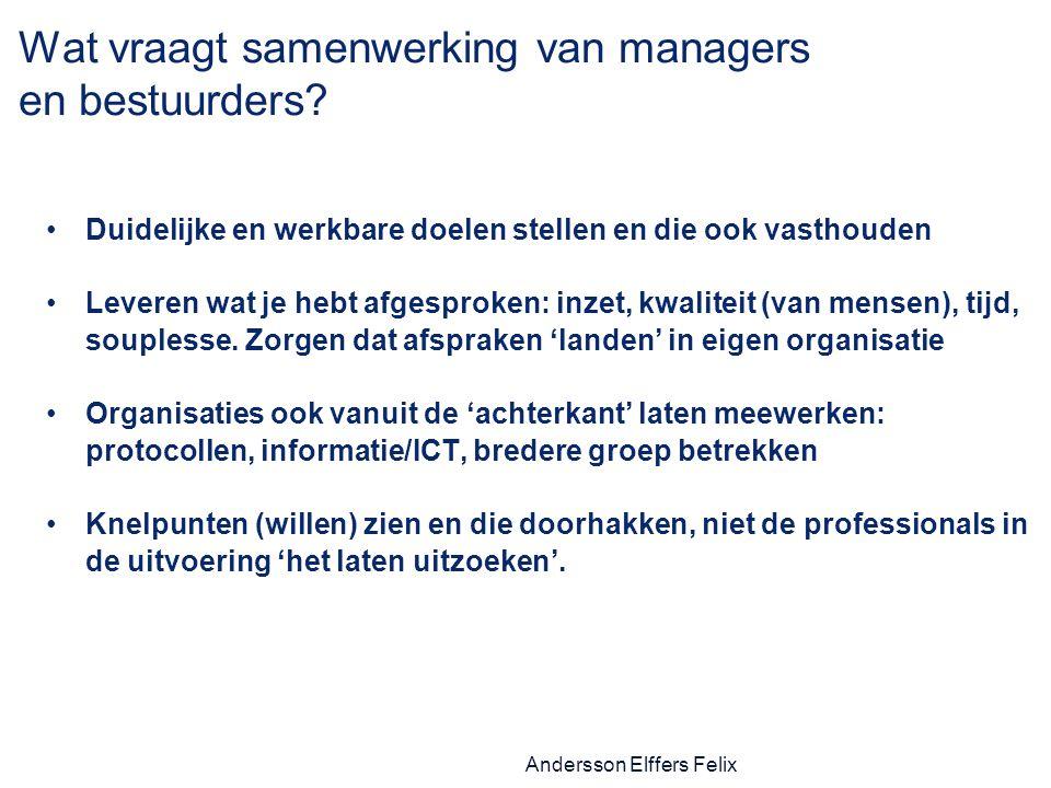 Wat vraagt samenwerking van managers en bestuurders