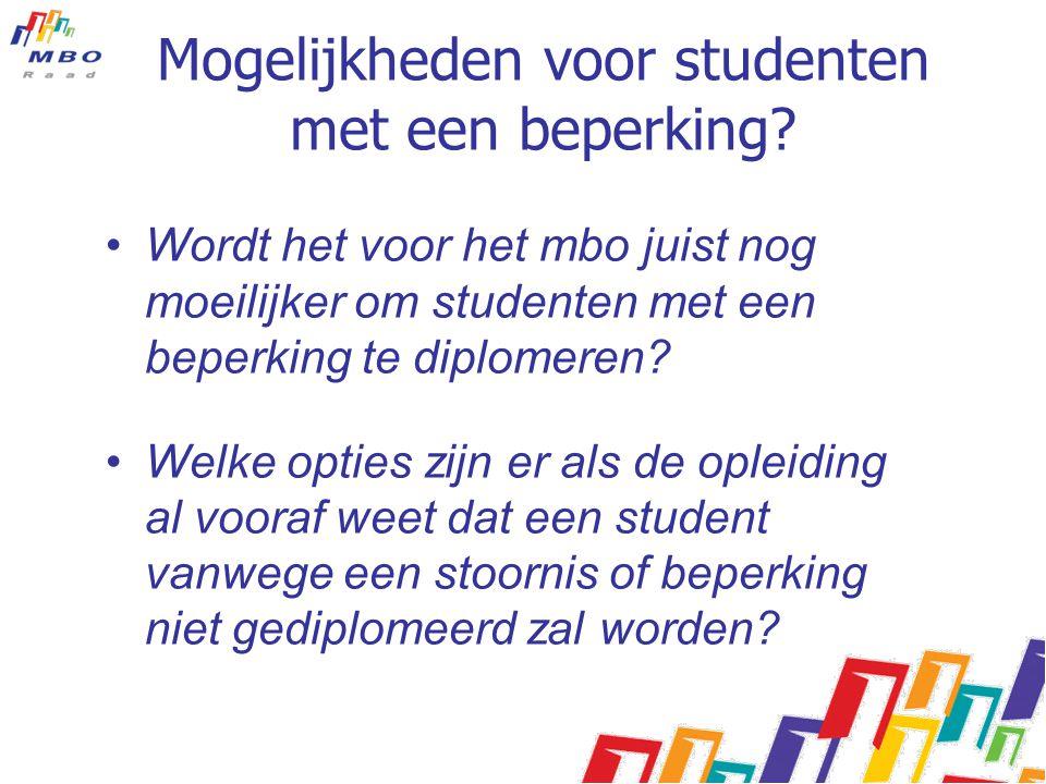 Mogelijkheden voor studenten met een beperking