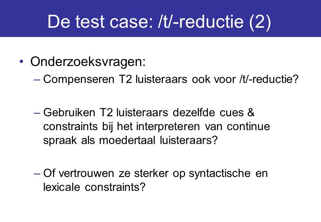 De test case: /t/-reductie (2)