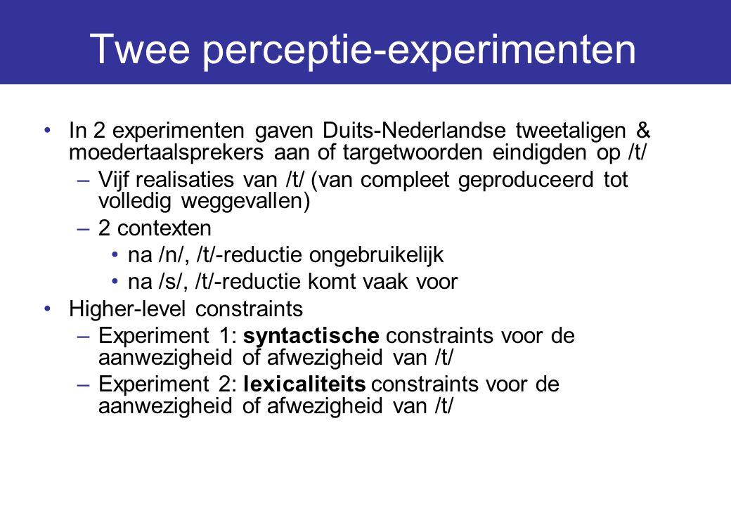 Twee perceptie-experimenten