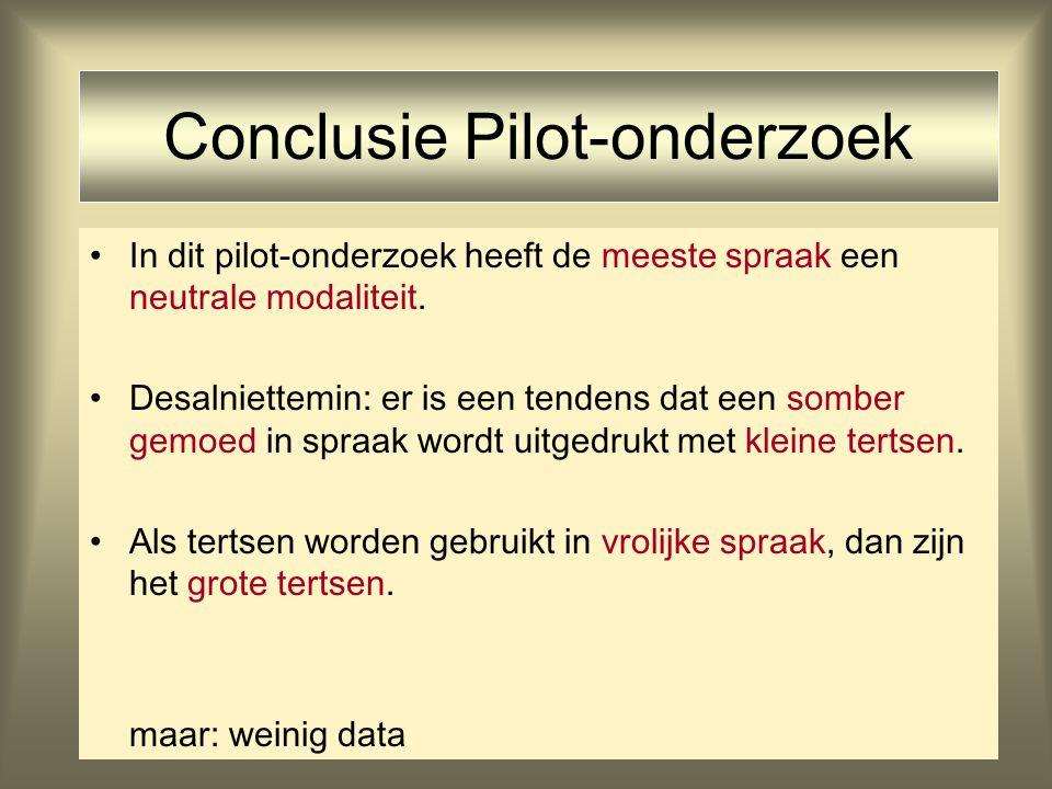 Conclusie Pilot-onderzoek