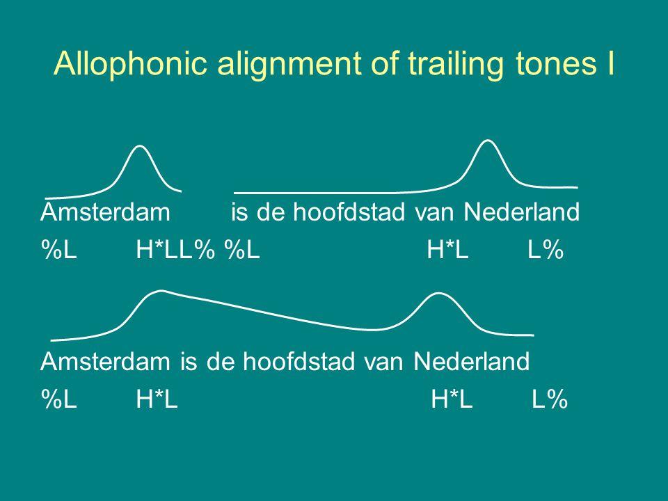 Allophonic alignment of trailing tones I