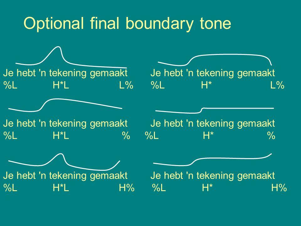 Optional final boundary tone