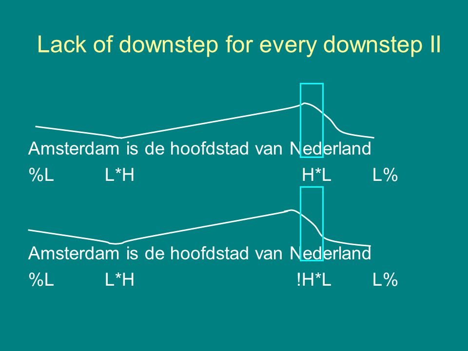 Lack of downstep for every downstep II