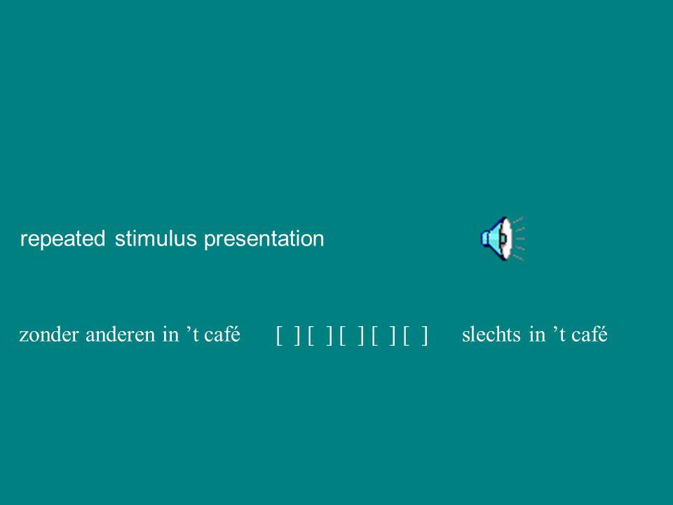 repeated stimulus presentation