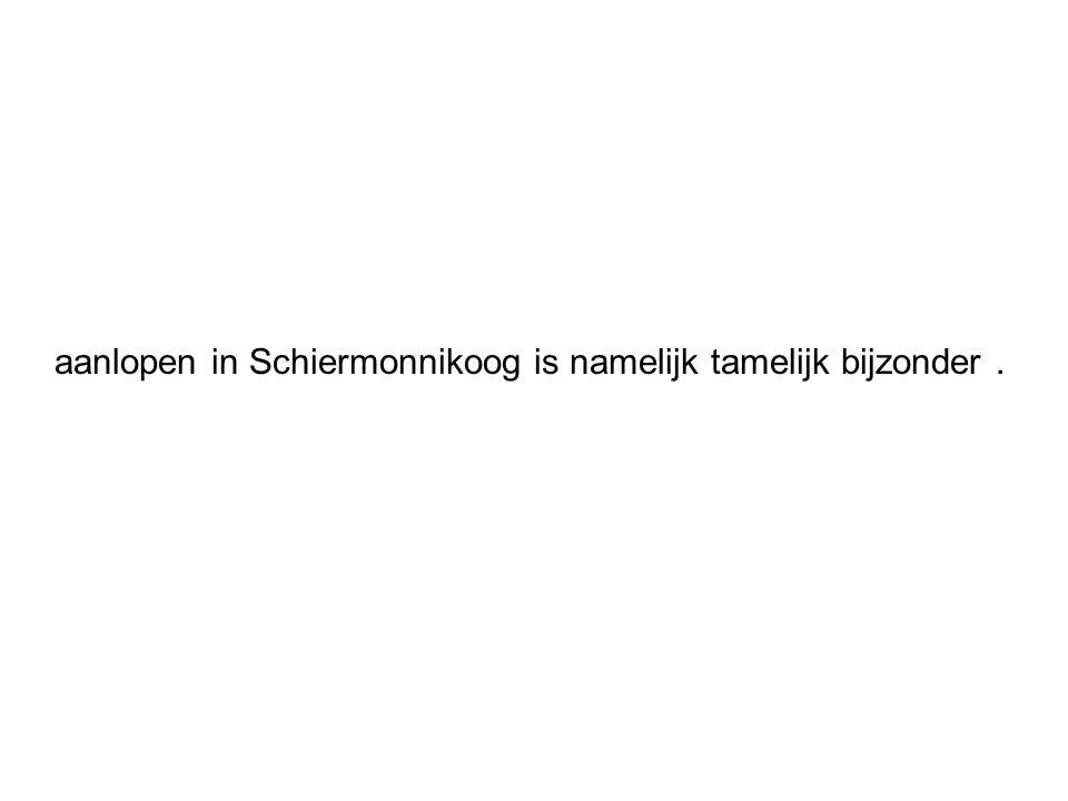 aanlopen in Schiermonnikoog is namelijk tamelijk bijzonder .