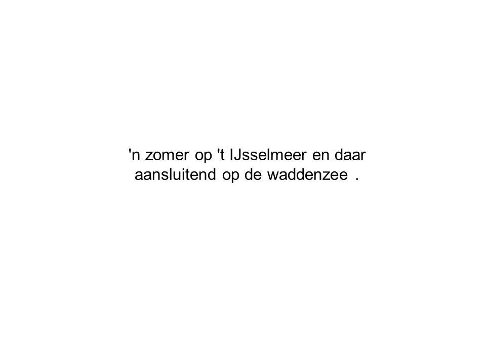 n zomer op t IJsselmeer en daar aansluitend op de waddenzee .