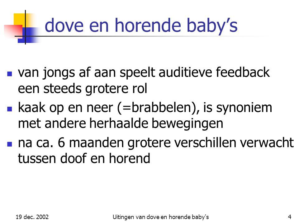 Uitingen van dove en horende baby s