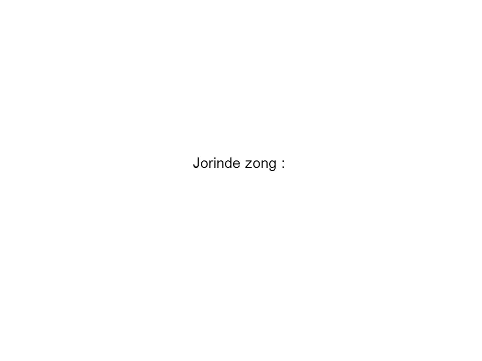 Jorinde zong :
