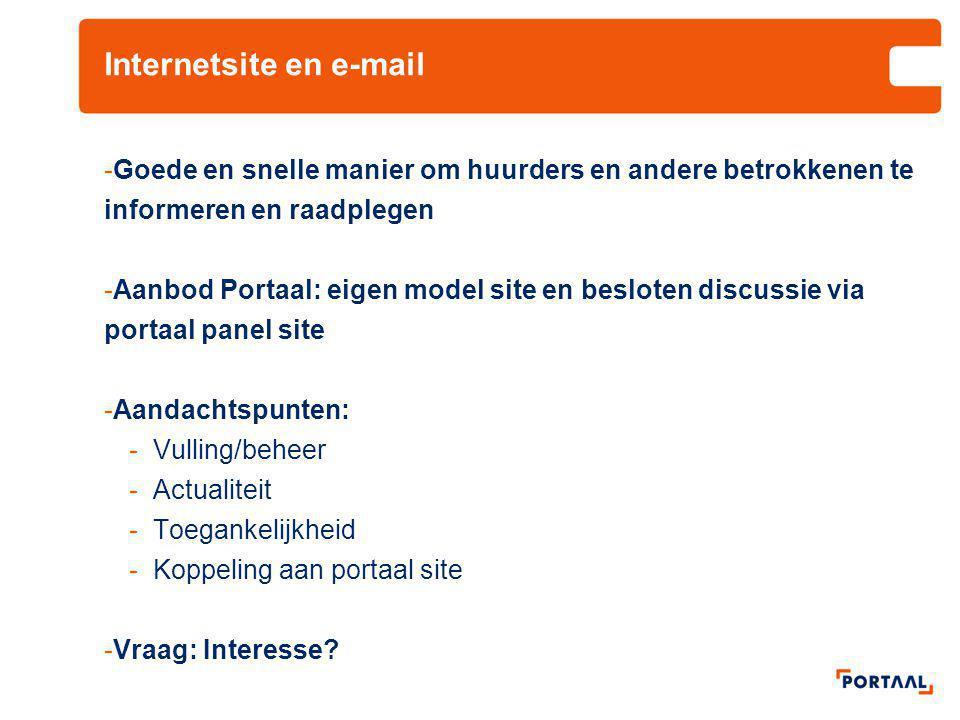 Internetsite en e-mail