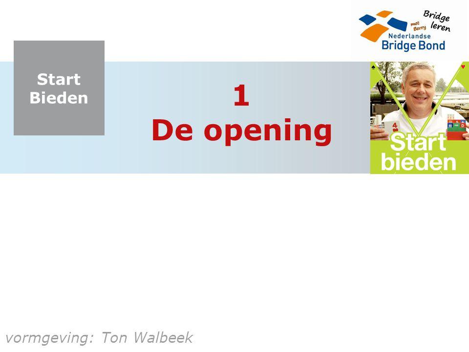 1 De opening