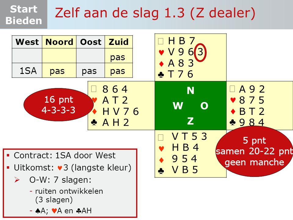 Zelf aan de slag 1.3 (Z dealer)