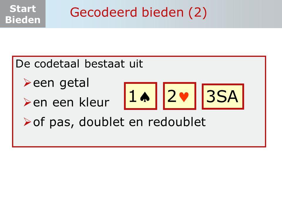 1 2 3SA Gecodeerd bieden (2) een getal en een kleur