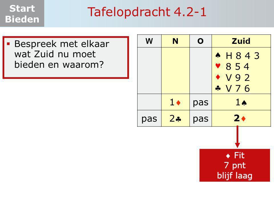Tafelopdracht 4.2-1     1 pas 1 2