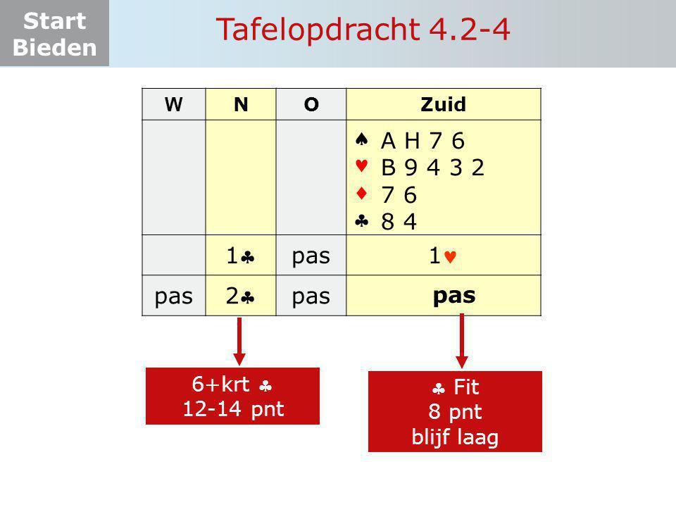 Tafelopdracht 4.2-4     1 pas 1 2 A H 7 6 B 9 4 3 2 7 6 8 4
