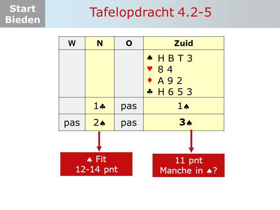 Tafelopdracht 4.2-5     1 pas 1 2 H B T 3 8 4 A 9 2 H 6 5 3