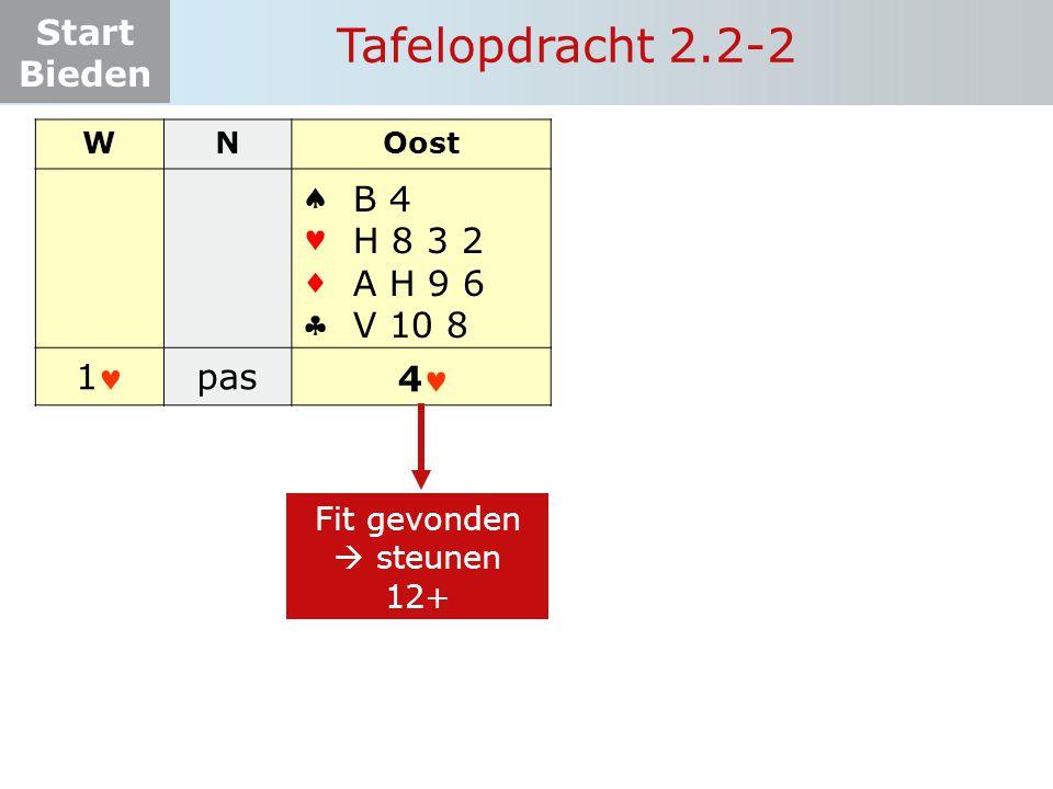 Tafelopdracht 2.2-2     1 pas B 4 H 8 3 2 A H 9 6 V 10 8 4