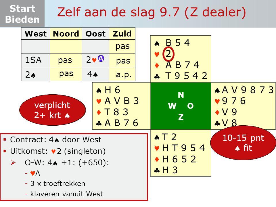 Zelf aan de slag 9.7 (Z dealer)