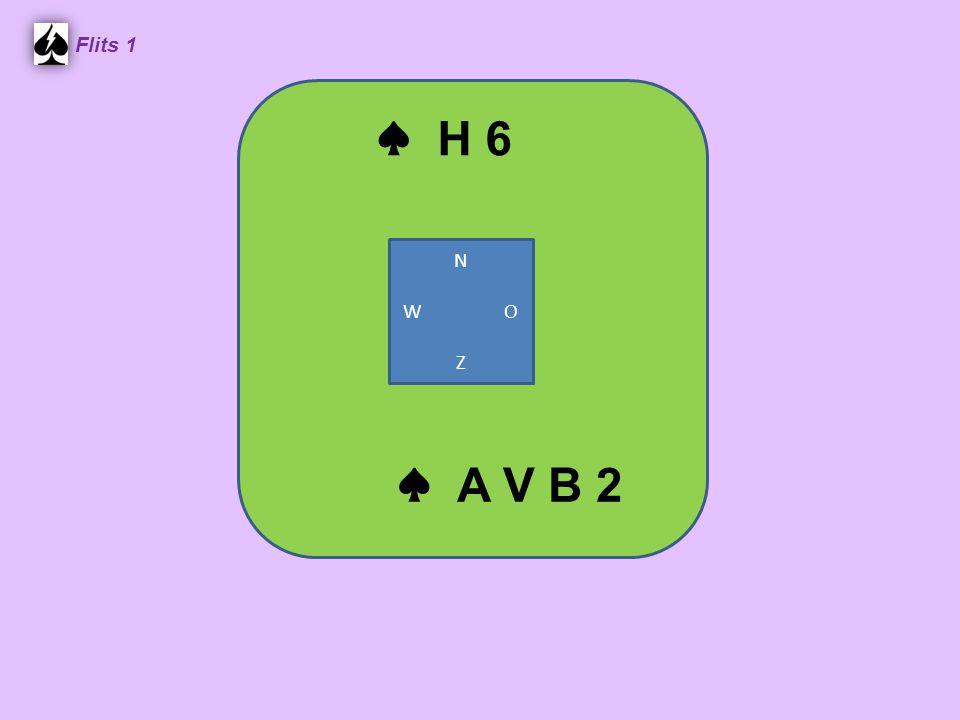 Flits 1 ♠ H 6 N W O Z ♠ A V B 2