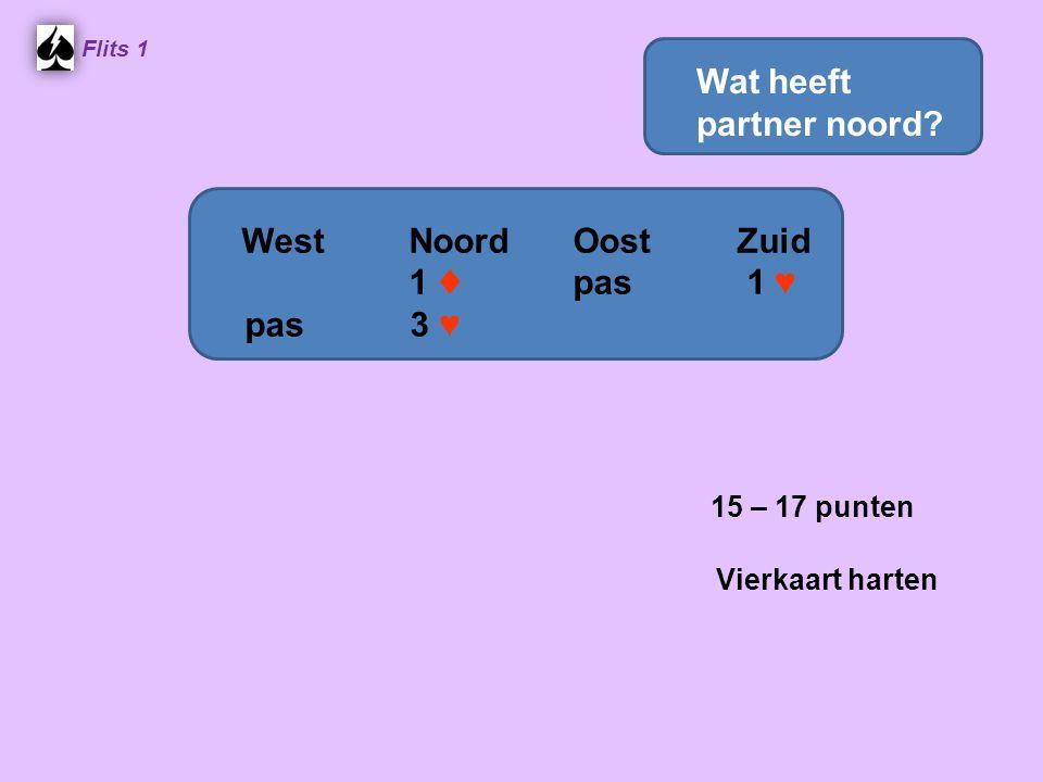 15 – 17 punten Wat heeft partner noord West Noord Oost Zuid