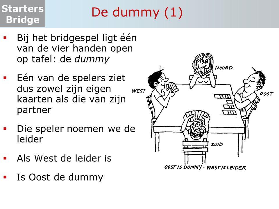 De dummy (1) Bij het bridgespel ligt één van de vier handen open op tafel: de dummy.