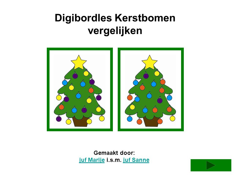 Digibordles Kerstbomen juf Marije i.s.m. juf Sanne