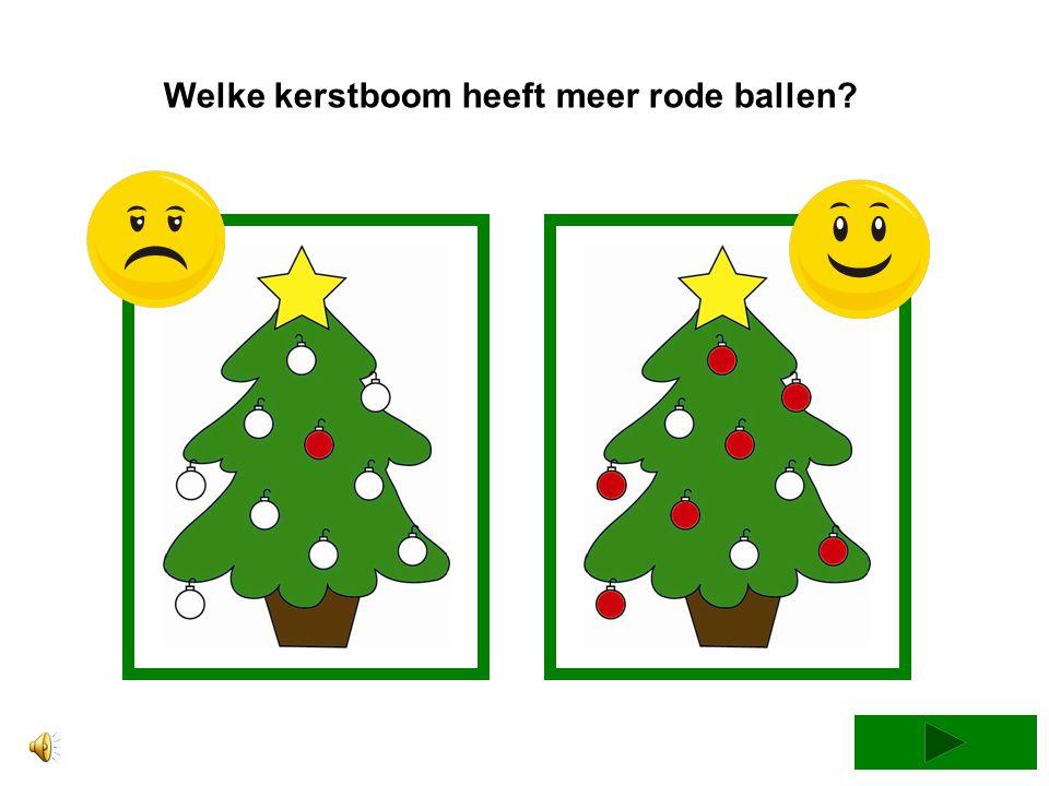 Welke kerstboom heeft meer rode ballen