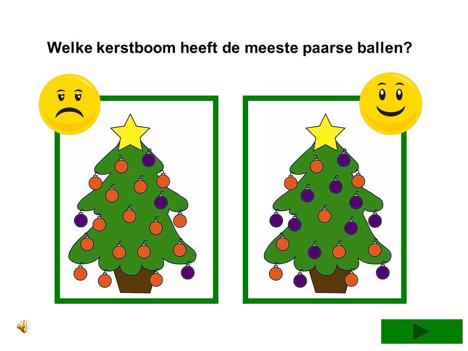 Welke kerstboom heeft de meeste paarse ballen