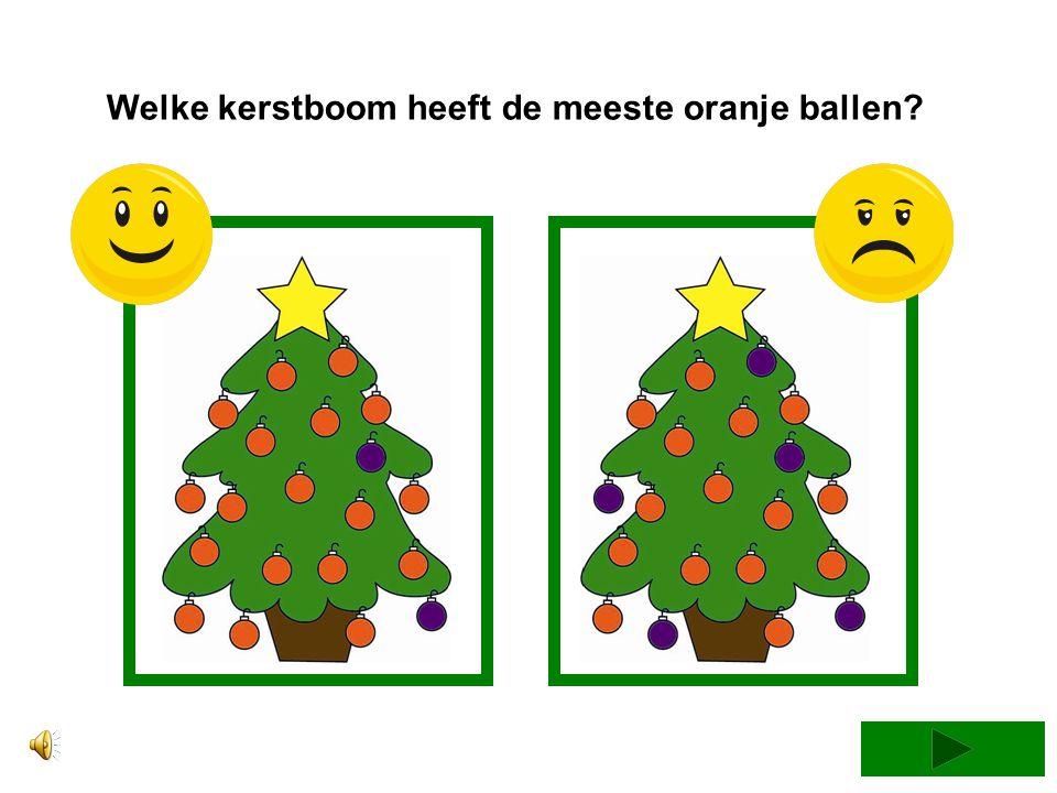 Welke kerstboom heeft de meeste oranje ballen
