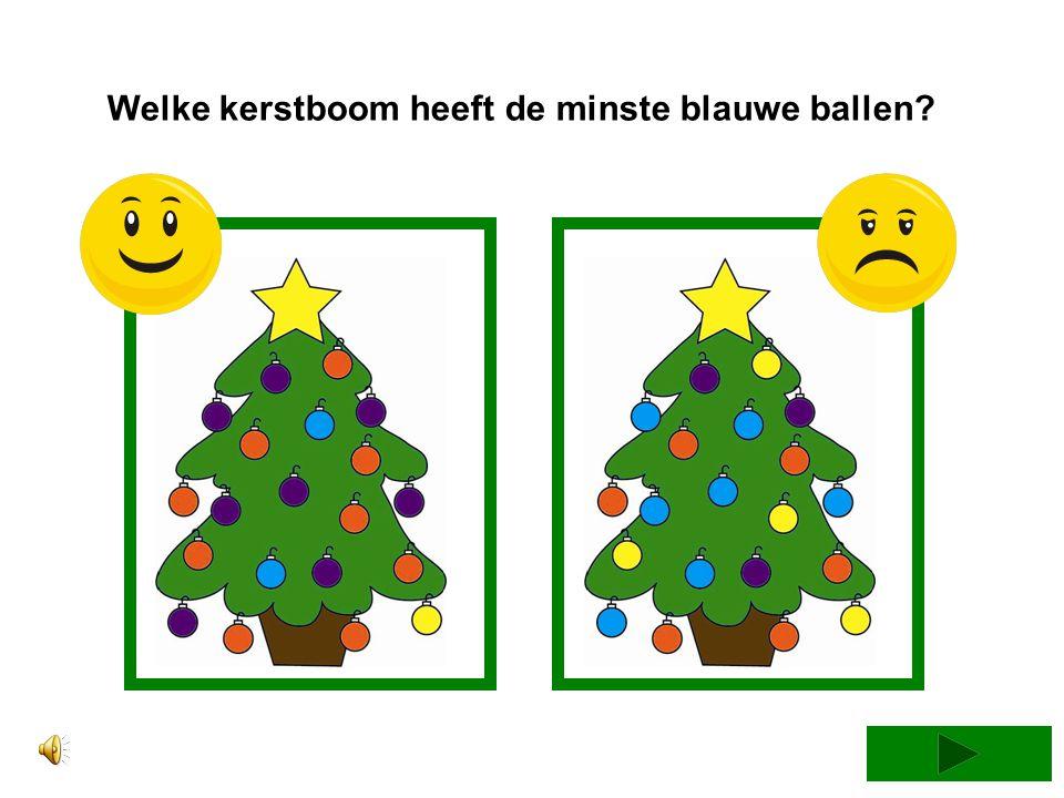 Welke kerstboom heeft de minste blauwe ballen