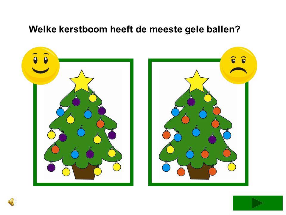 Welke kerstboom heeft de meeste gele ballen