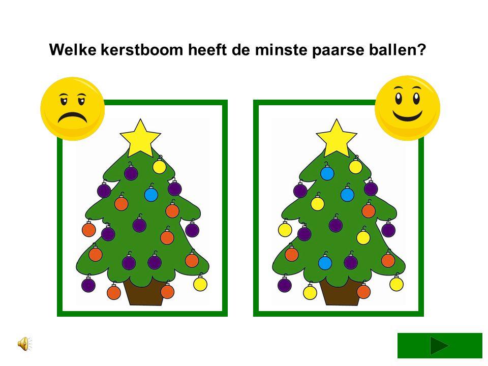 Welke kerstboom heeft de minste paarse ballen