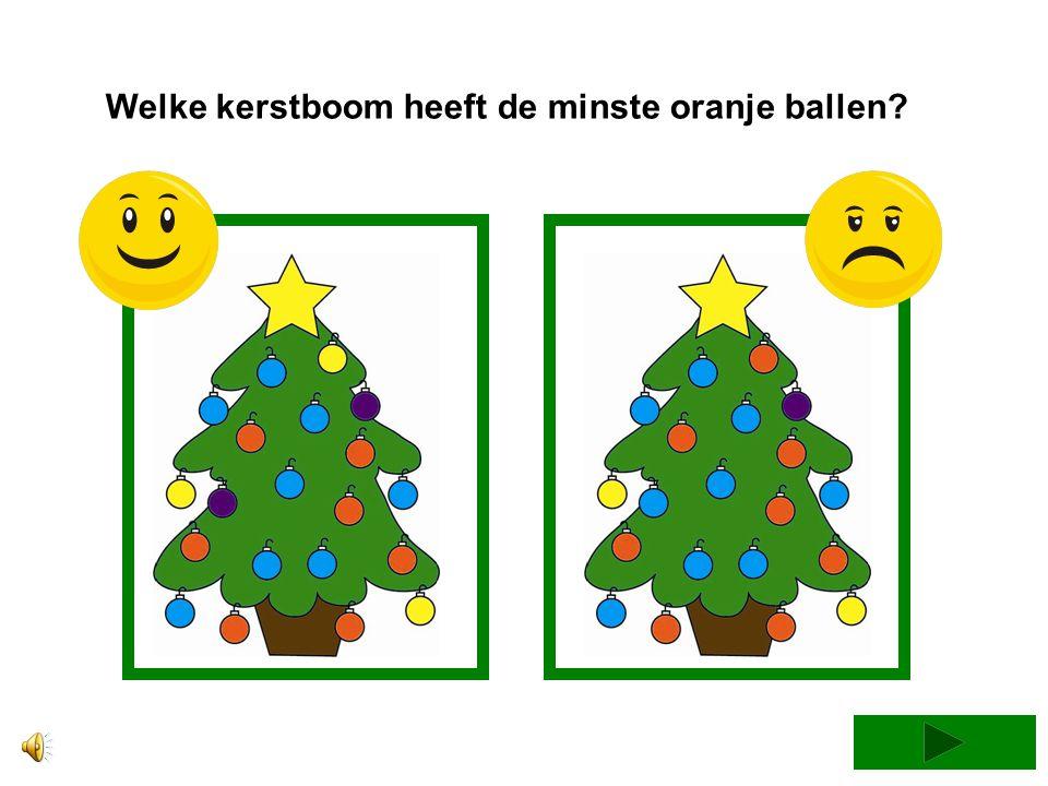 Welke kerstboom heeft de minste oranje ballen
