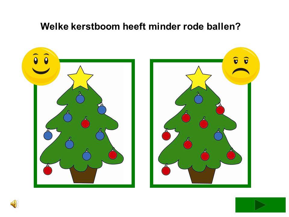 Welke kerstboom heeft minder rode ballen