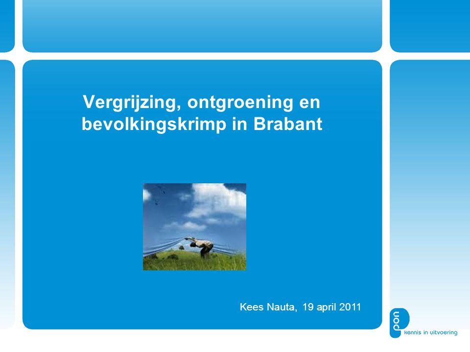 Vergrijzing, ontgroening en bevolkingskrimp in Brabant