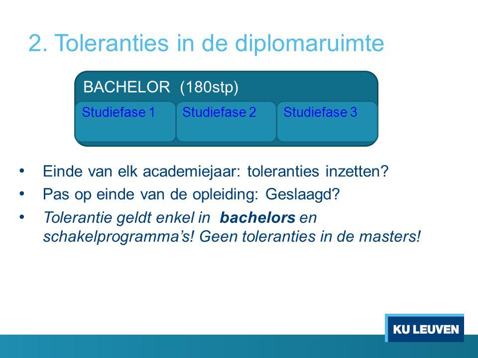 2. Toleranties in de diplomaruimte
