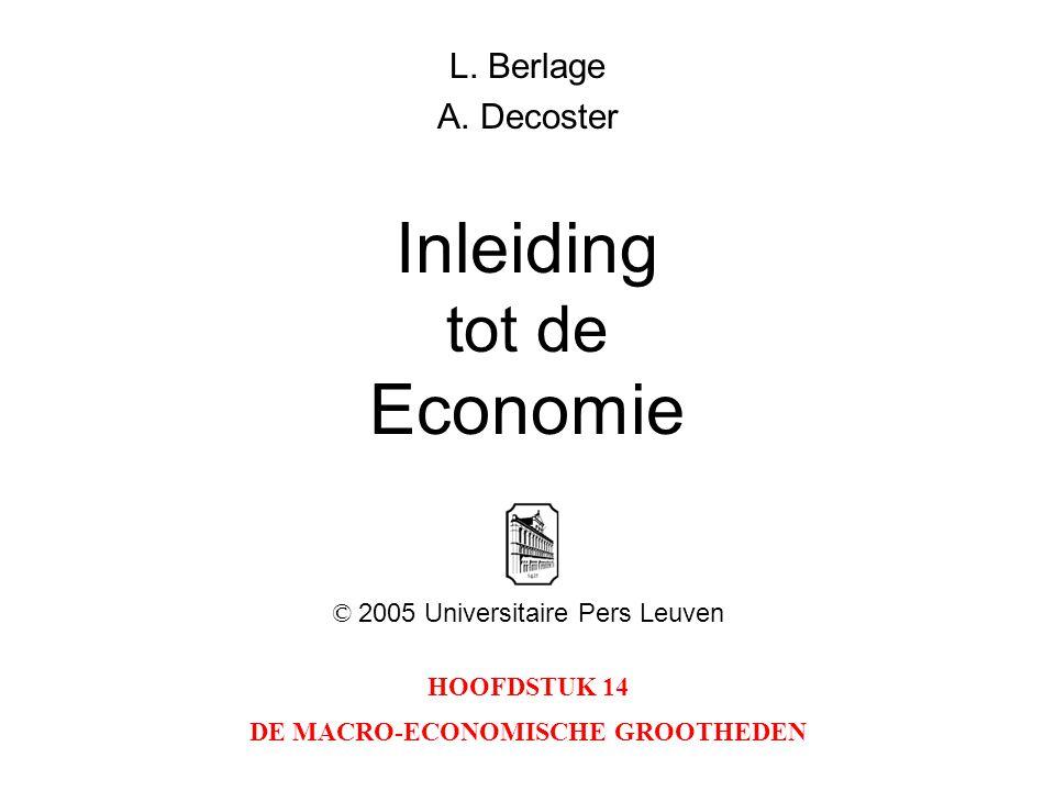 HOOFDSTUK 14 DE MACRO-ECONOMISCHE GROOTHEDEN