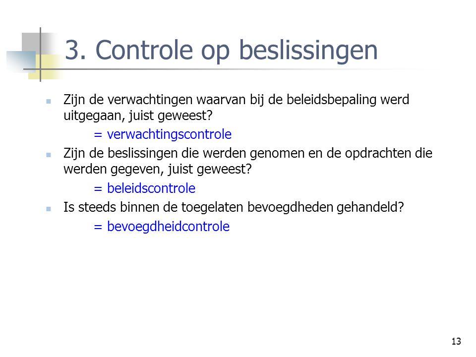 3. Controle op beslissingen