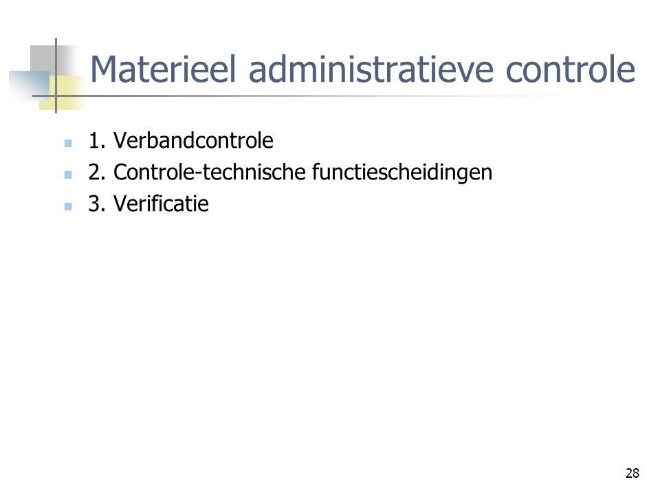 Materieel administratieve controle