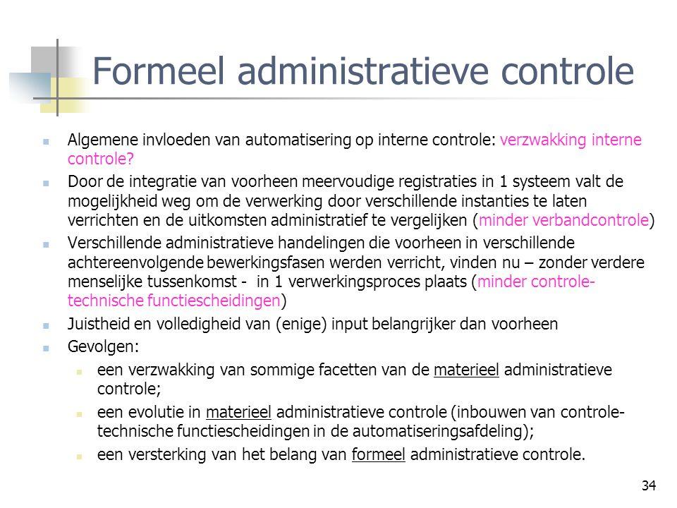Formeel administratieve controle