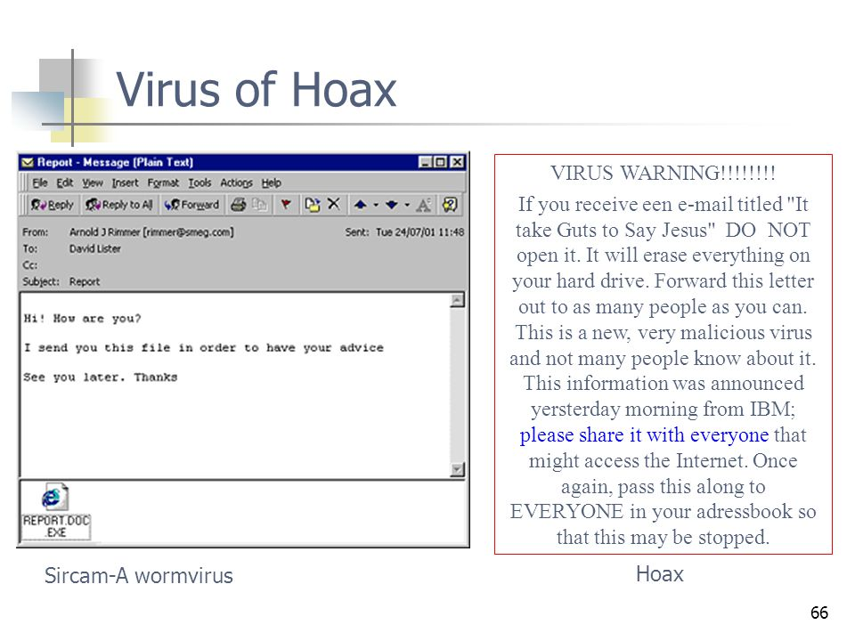 Virus of Hoax VIRUS WARNING!!!!!!!!
