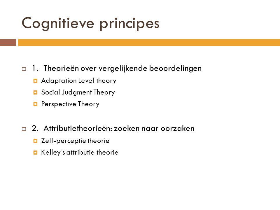 Cognitieve principes 1. Theorieën over vergelijkende beoordelingen