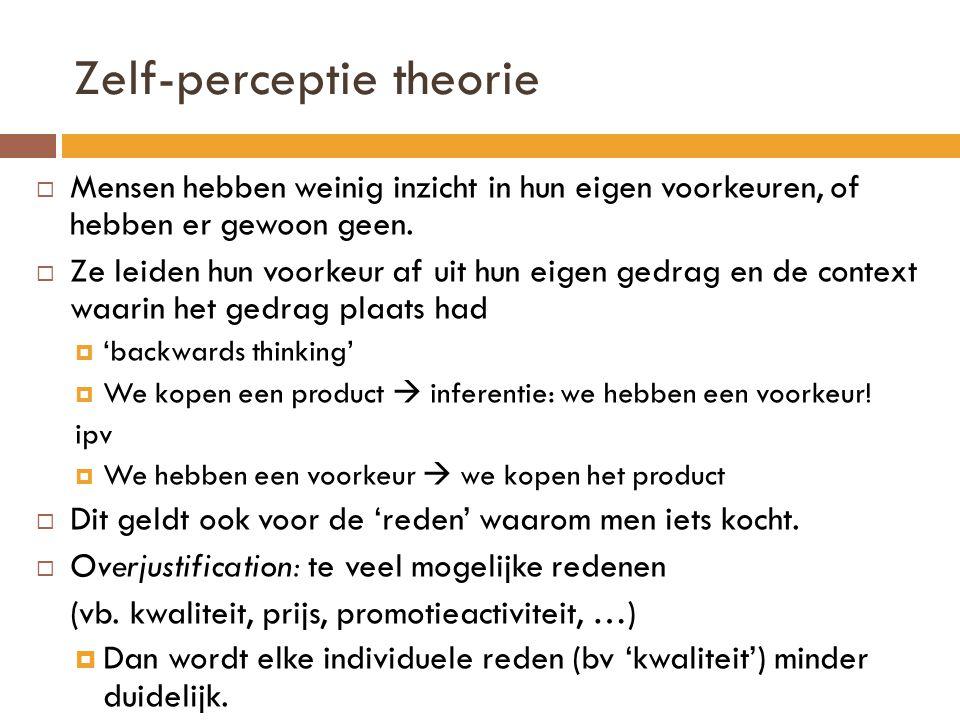 Zelf-perceptie theorie