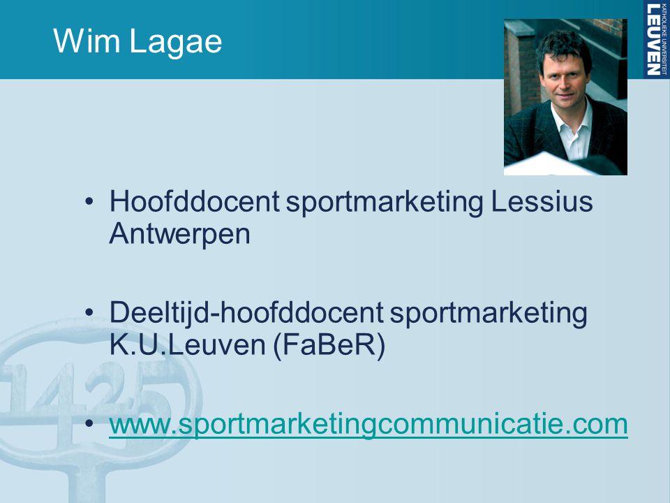 Wim Lagae Hoofddocent sportmarketing Lessius Antwerpen