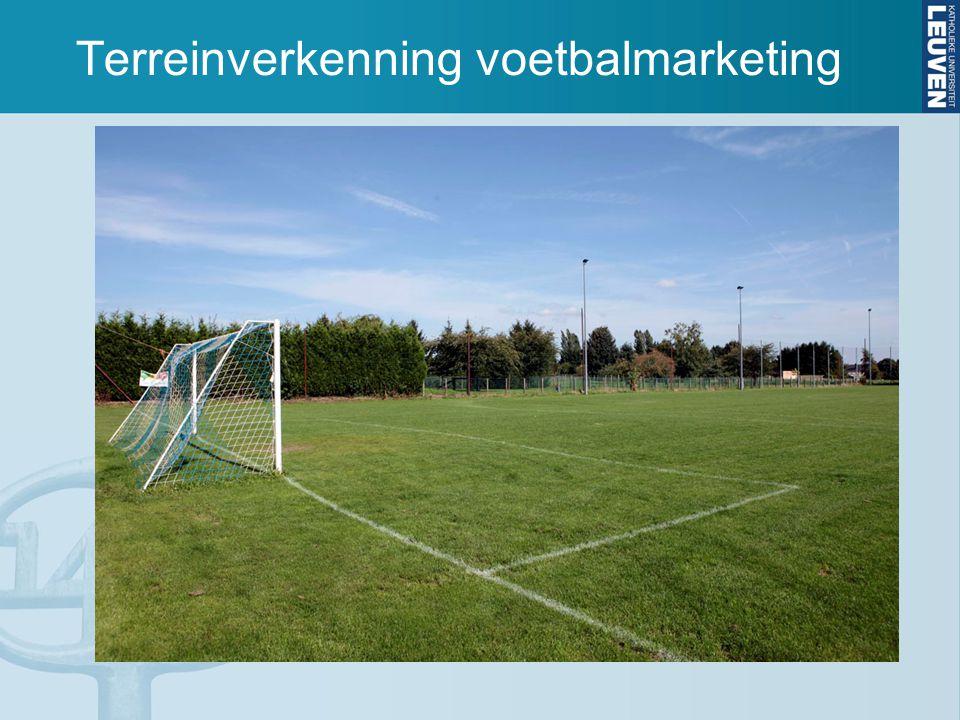 Terreinverkenning voetbalmarketing